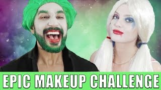 GUY DOES HARLEY QUINN MAKEUP w/ Brittney