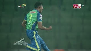 Taskin Ahmed's 3 Wickets Against Dhaka Dynamites || 12th Match || Edition 6 || BPL 2019