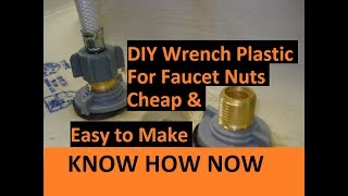DIY Basin Wrench for Plastic Faucet Nuts