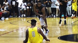 James Harden Goes AT Nick Young! INSANE Drew League Championship!
