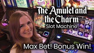 Green Machine 💸💸and Amulet & Charm Bonuses Max Bet Win!!!
