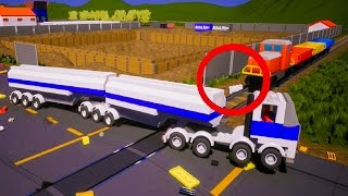 Brick Rigs Train Crashes and more - Lego Car Crashes 50