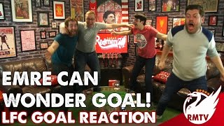 Emre Can Scores an OVERHEAD KICK! | LIVERPOOL FANS Goal Reaction