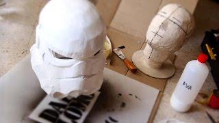 #77: Star Wars Stormtrooper Helmet Part 3 - Papermache, Filler & Ears   Costume Prop