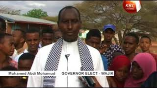 Wajir governor elect tells locals to cease  hostility
