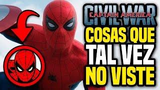 CAPITÁN AMÉRICA: CIVIL WAR Trailer 2 - Cosas Que Tal Vez No Viste Y Spider-Man