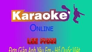 karaoke ĐƠN GIẢN ANH YÊU EM-Pro online