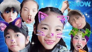 Kan & Aki SNOWアプリであそんだよ♪