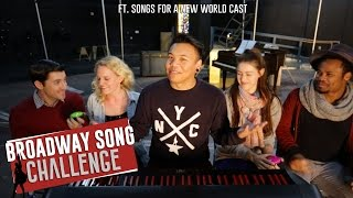 Broadway Song Challenge ft. Cast of Songs For A New World   AJ Rafael