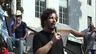 Jeff Ross roasts Wall Street at Occupy LA