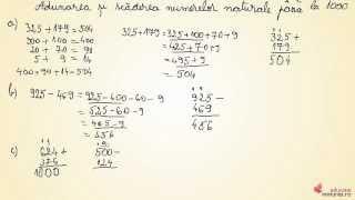 Adunarea si scaderea numerelor naturale pâna la 1 000 - Matematica clasa a III-a