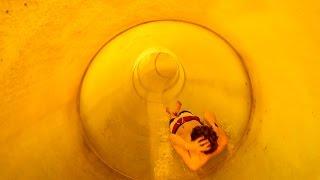 Natur-Therme Templin - Röhrenrutsche   Fast Body Slide Onride POV