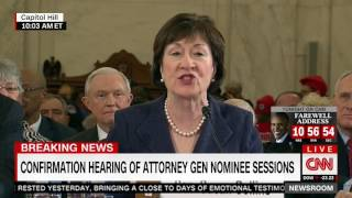 Code Pink Protester Interrupts Confirmation Hearing Of Sen  Sessions