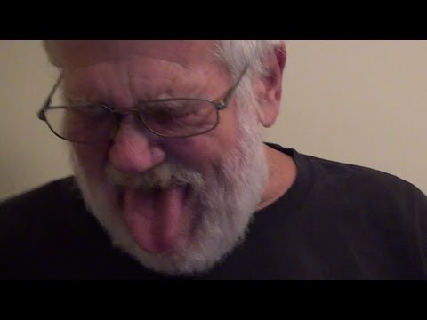 Angry Grandpa Watches Girl Eats Own Tampon
