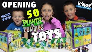 Plants vs. Zombies SERIES 2 K'NEX Blind Bags FULL CASE OPENING w/ FGTEEV Kids!!  50 PVZ Toys!