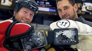Can a GoPro survive a slapshot?