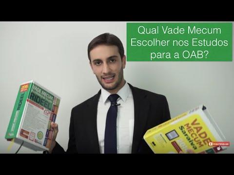 Qual Vade Mecum Escolher nos Estudos para a OAB?