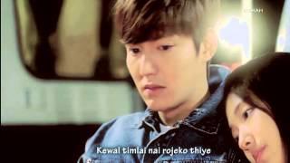 nachaheko haina timilai - the edge band(lyrics video)