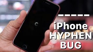 A hyphen causes iPhones to crash!