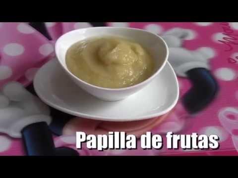 PAPILLA DE FRUTAS ( MANZANA, PERA Y PLÁTANO O BANANA ) , PARA BEBÉ