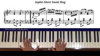 Scott Joplin Silver Swan Rag Piano Tutorial