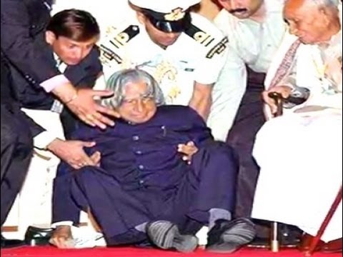 Abdul Kalam Live Fell Down and Died  During Speech In IIM Shillong On July 27, 2015