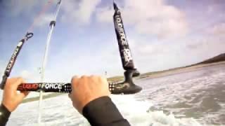 Best Warroo 9m 2007, kitesurfing gwithian 25Nov,helmet cam