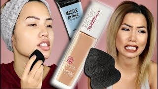 NEW (IT'S BACK!) MAYBELLINE 24HR SUPERSTAY FULL COVERAGE FOUNDATION   WEAR TEST REVIEW
