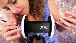 Tinglegasms! ASMR Ear Cleaning & Ear Massage Brushing, Makeup Brushes, Tapping, Feathers, Ear Muffs