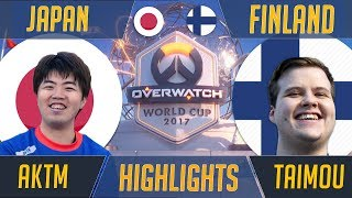 Finland vs Japan - Taimou Mcree / Widow Challenges AKTM | Overwatch World Cup 2017 Esports Highlight