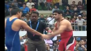 Best fights of Wrestler Sushil Kumar | Sushil Kumar wins CWG Gold in 80 secs