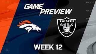 Denver Broncos vs. Oakland Raiders | NFL Week 12 Game Preview | Move the Sticks