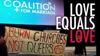 Gay activists disrupt Christian gathering: No charges laid