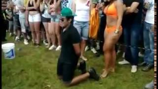 Girlfriend Catches Her Man Getting A Lap Dance From Brazilian Woman!