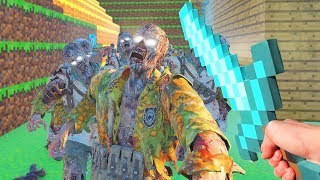 *NEW* MINECRAFT ZOMBIES CHALLENGE *HARD* (Call of Duty Black Ops 3 Custom Zombies)