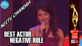 Best Actor in Negative Role Tamil | Neetu Chandra | Aadhi Baghavan | SIIMA 2014