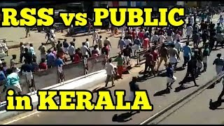 FULL VIDEO   Public attacks RSS Protesters in Kerala   REALITY!