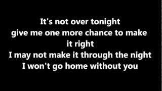 Won't go home without you (Acoustic) Lyrics - Maroon 5