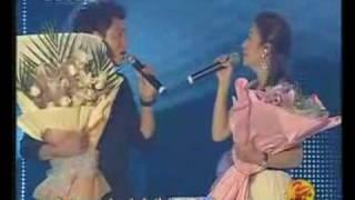 Vicki ZhaoWei & ChenKun singing Painted Heart