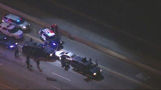 Watch Dramatic End To Chase And Standoff With Attempted Murder Suspect On 405