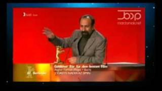 اصغر فرهادی در اختتامیه جشنواره فیلم برلین