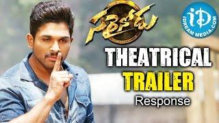 Sarainodu Theatrical Trailer - Response || Allu Arjun || Rakul Preet ||  Boyapati Srinu