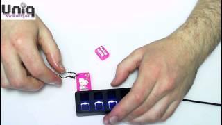 USB Флешка Uniq Резина Hello Kitty mini розовая