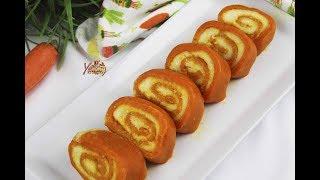 গাজরের সুইস রোল। গাজরের হালুয়া | Gajorar Halwa | Carrot Swiss roll Bangla Recipe