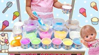 カラフル アイスクリーム屋さん メルちゃん / Colorful Ice Cream shop Playset : Mell-chan Doll