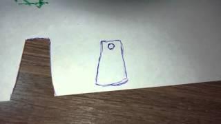 Как сделать плащ для минифигурки лего из бумаги.