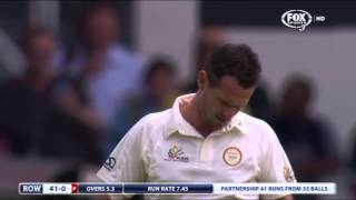 42 year old Adam Gilchrist batting against Shaun Tait!