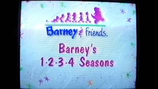 Opening and Closing to Barney's 1-2-3-4 Seasons 1996 VHS