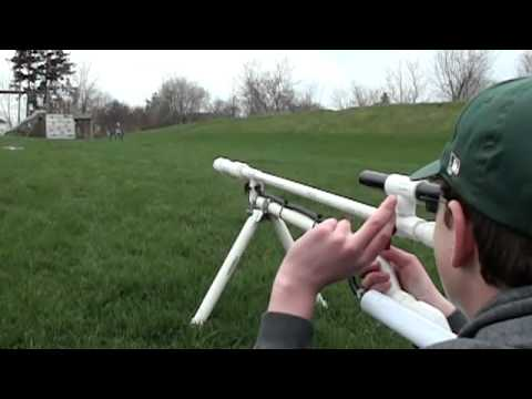 Homemade paintball sniper rifle