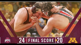 Highlights: Gopher Wrestling Falls in Close Dual to Ohio State